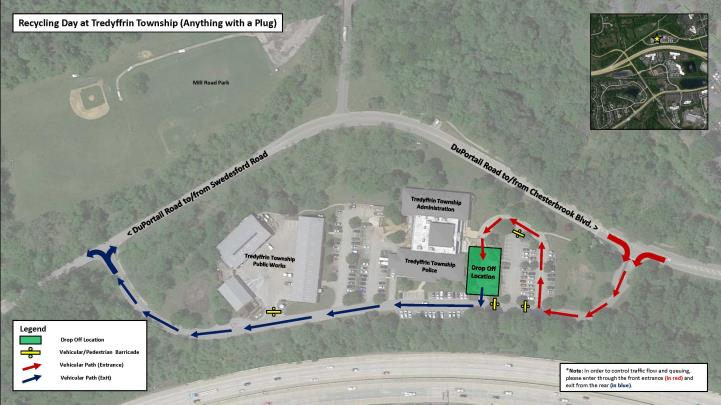 Recycling Day Map at Township Building