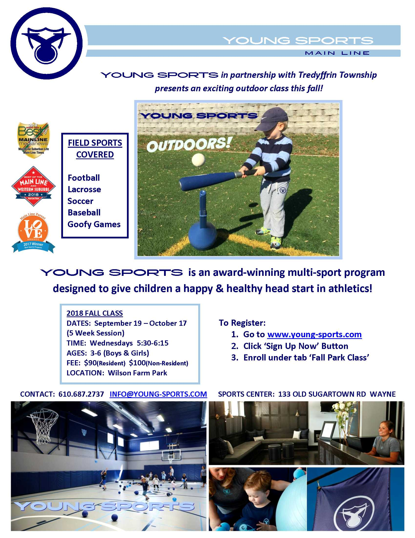 YOUNG SPORTS Mobile Class Flyer (Tredyffrin Township)(Fall)(2018)