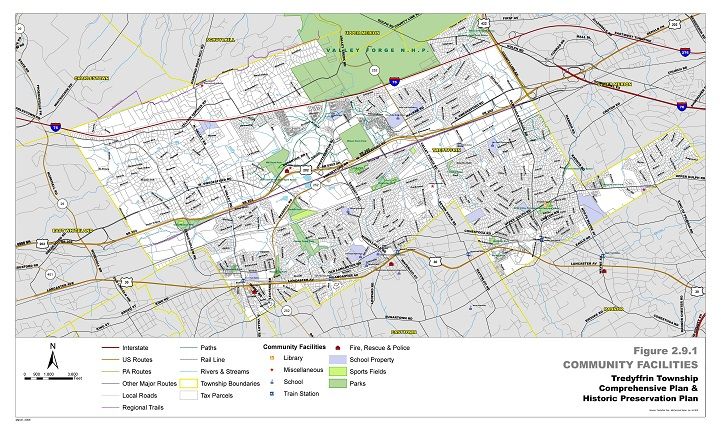 Maps | Tredyffrin Township Chester Valley Trail Map on